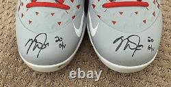 Mike Trout GAME USED 2020 SEASON CLEATS game worn SIGNED auto ANGELS spikes