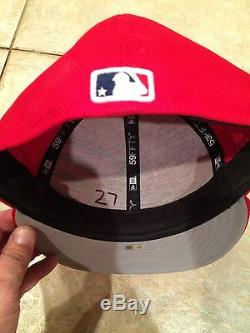 Mike Trout Game Used Cap Signed Inscribed Born In The USA Worn July 4th-1/1 Nj
