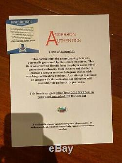 Mike Trout Game Used Signed Bat 2016 G/U MVP YEAR Anderson Authentics