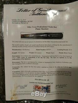 Mike Trout Game Used Signed Bat PSA 10! Photo matched