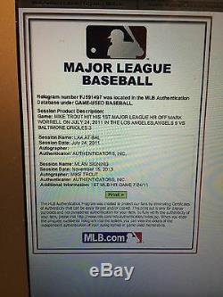 Mike Trout Signed Game Used Ball from 1st ML HR Game-Angels/MLB History-MLB HOLO