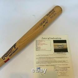 Mo Vaughn MVP 1995 Signed Game Used Rawlings Big Stick Baseball Bat JSA COA