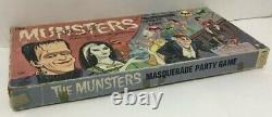 Munsters Masquerade Party Vintage Board Game Complete Scarce Signed Hasbro 1964