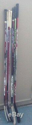 NHL game used & SIGNED and AUTOGRAPHED hockey sticks Los Angeles kings lot of 7