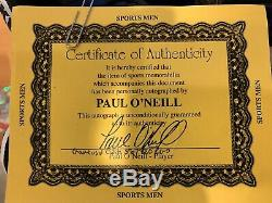 New York Yankees Paul ONeill Autographed Game Used Cleats COA Paul ONeill Rare