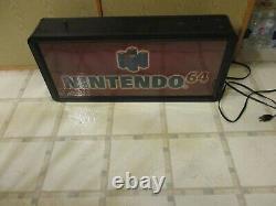 Nintendo 64 N64 / Game Boy Color System Promotional Store Display Light Up Sign