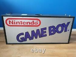 Nintendo Game Boy Fiber Optic Sign Store Display VGA Wata kiosk pokemon promo