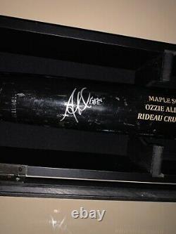 Ozzie Albies Braves Game Used Signed Bat GU Bat Auto ALBIES