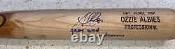 Ozzie Albies Signed Game Used 2020 Postseason Bat Atlanta Braves (Beckett)