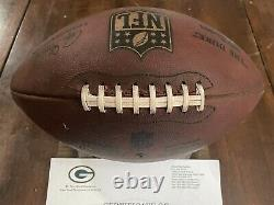 Packers 2018 Game Used Football Wilson Signed Ball COA Aaron Rodgers & A. Jones