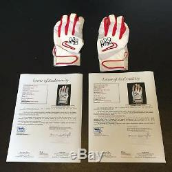Pair Of Albert Pujols Signed Game Used Batting Gloves With 2 JSA COA's