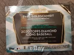 Paul Goldschmidt autographed preeminent pieces Topps Diamond Icons 2020 #5/10
