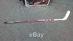 Pavel Datsyuk Game used signed CCM RBZ Pro Stock hockey stick Detroit Red Wings