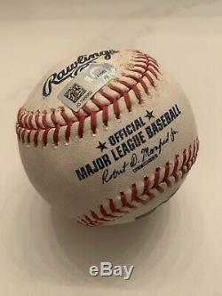 Pete Alonso Game Used Rookie Year Baseball Mets Foul Ball Not Signed Mlb Coa