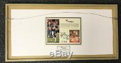 Peyton Manning Signed Game Used Wrist Bands Photo Framed Fanatics Authentic COA