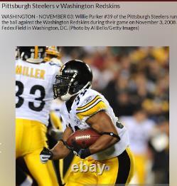Pittsburgh Steelers Game Used Signed Football 2008 Seasons Super Bowl COA Rare
