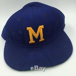 RARE 1975 Hank Aaron Game Used Signed Milwaukee Brewers Baseball Cap Hat PSA DNA