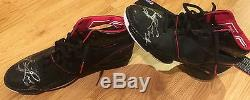 RARE GAME USED Chicago Bulls DERRICK ROSE signed Basketball Shoes MVP YEAR 2011