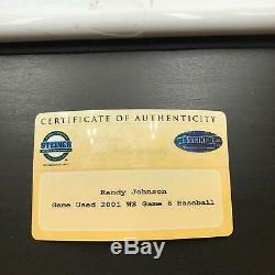 Randy Johnson Signed 2001 World Series Game 6 Game Used Baseball Steiner COA
