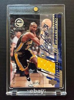 Rare 2000-01 Upper Deck Reggie Miller Game Used Jersey Patch 44/50 Auto Signed