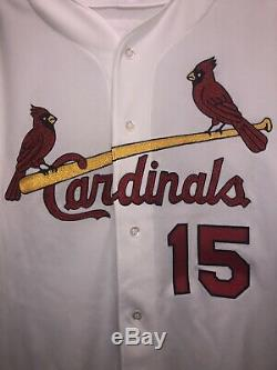Rare 2000 Jim Edmonds Game Used Worn Autographed St. Louis Cardinals Jersey