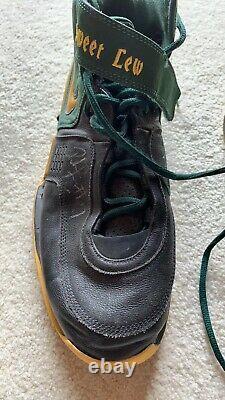 Rashard Lewis Seattle Sonics SuperSonics Game Used Autographed Signed Shoes