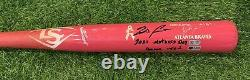 Ronald Acuna Jr. Atlanta Braves Game Used Bat 2021 Mothers Day Signed MLB