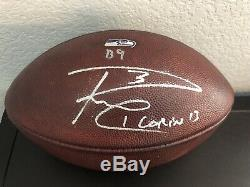 Russell Wilson Autographed Seahawks Game Used NFL Leather Football
