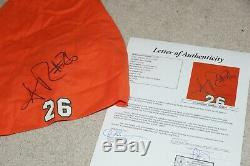 SEAN TAYLOR Signed MIAMI HURRICANES Auto Game Used Worn orange BANDANA JSA COA