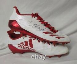 STANLEY MORGAN JR. Game Used Worn Signed Cleats NEBRASKA CORNHUSKERS Adidas