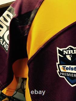 Sam Thaiday Signed Brisbane Broncos Game Worn Jersey