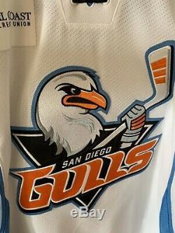 San Diego Gulls Ondrej Kase Signed Game Used Worn Hockey Jersey Anaheim Ducks