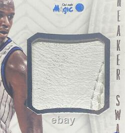 Shaquille o'neal National Treasures sneaker swatches game-worn 2013-14 auto /60