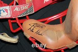 Signed Game-used Philadelphia Phillies Darren Daulton Catchers Mask Jsa Coa Auto