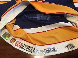 St Louis Blues Brett Hull 1993-94 Game Worn Used & Signed Playoff Hockey Jersey