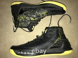 Steph Curry Game Worn Used Photmatched Signed Under Armour SC30 Warriors Shoes