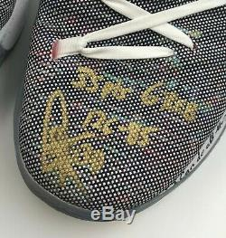 Stephen Curry 2x Signed 2018 NBA WC Finals Game Used Shoes Sz 11.5 STEINER COA