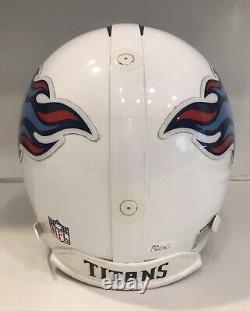 TENNESSEE TITANS Game Used Football Helmet EDDIE GEORGE Autographed Signed LOA