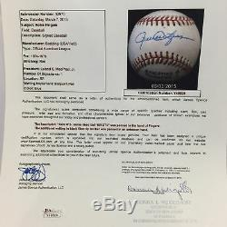 The Final Pitch Of 1974 World Series Game 1 Signed Game Used Baseball JSA