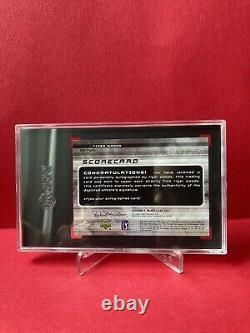 Tiger Woods Sgc 8 2003 Upper Deck Ud Sp Game Used Scorecard Signatures Auto