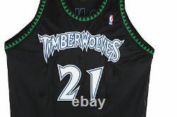 Timberwolves Kevin Garnett Signed 1998 Game Used Starter Black Jersey Steiner