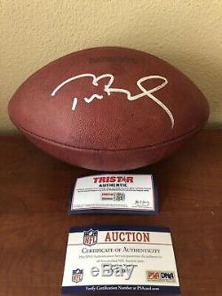 Tom Brady Super Bowl 46 Game Used Football By Patroits Offense Signed Autograph