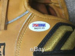 Tom Glavine Braves Mets signed game used Mizuno baseball glove autograph PSA