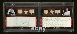 Topps Sterling Ty Cobb Tris Speaker Signed Cut Signature Auto Game-Used Bat 1/1