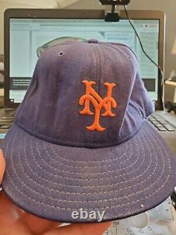 Vintage Game Used Autographed Dwight Doc Gooden 1980's New York Mets Hat