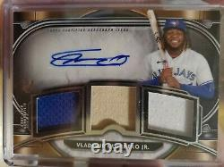 Vladimir Guerrero Jr. 2021 Museum Collection Game Used Triple Relic Auto #d /124