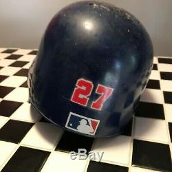 Vladimir Guerrero game used autographed helmet