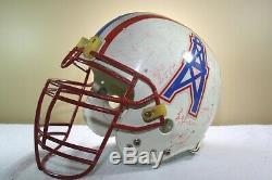 Vtg 1992 HOUSTON OILERS Team Signed Game Used Worn Riddell AF2 Football Helmet
