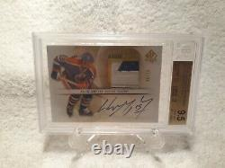 Wayne Gretzky Auto Patch GEM Oilers Game Used 6/10 Upper Deck SP Authentic