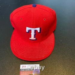 Will Clark Signed Game Used Texas Rangers Baseball Hat Cap With JSA COA